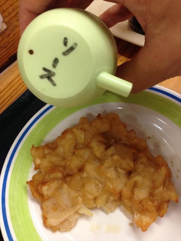 うどんの源水の天ぷら