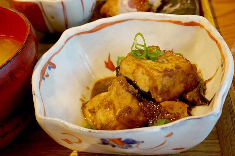 菜家吉(なかよし)茄子と厚揚げの味噌炒め