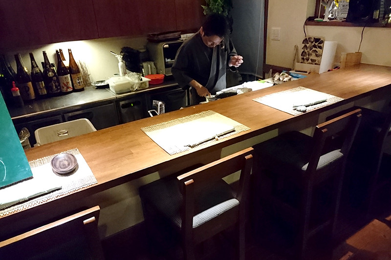 寿司ダイニング 阿しゅく亭 カウンター席