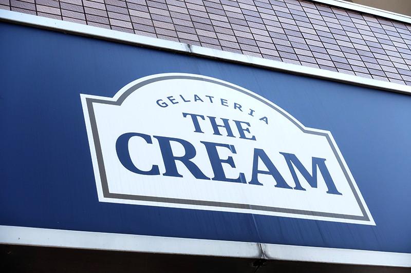 GELATERIA THE CREAM(ジェラッテリアクリーム) 店舗看板