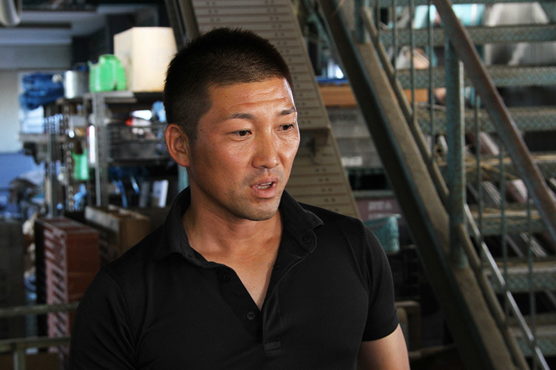 日本トリムの整水器について説明される南国スタイルの中村専務
