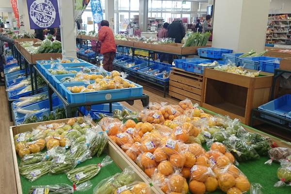 地元で育った農作物が選んで買える直売所