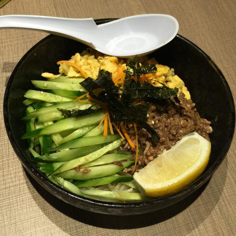 焼き肉なかごし 神田店の肉屋の冷やし麺