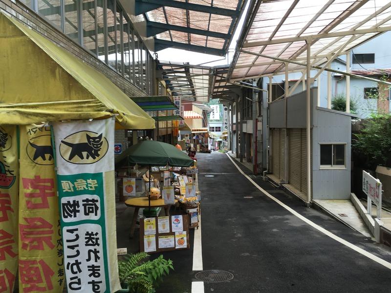 龍河洞商店街を散策