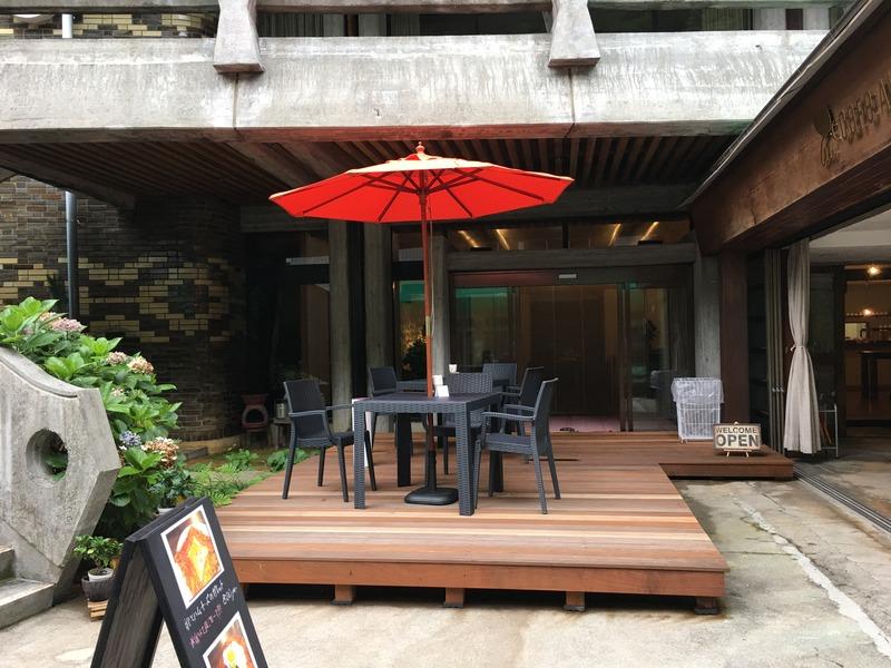 龍河洞商店街のカフェ