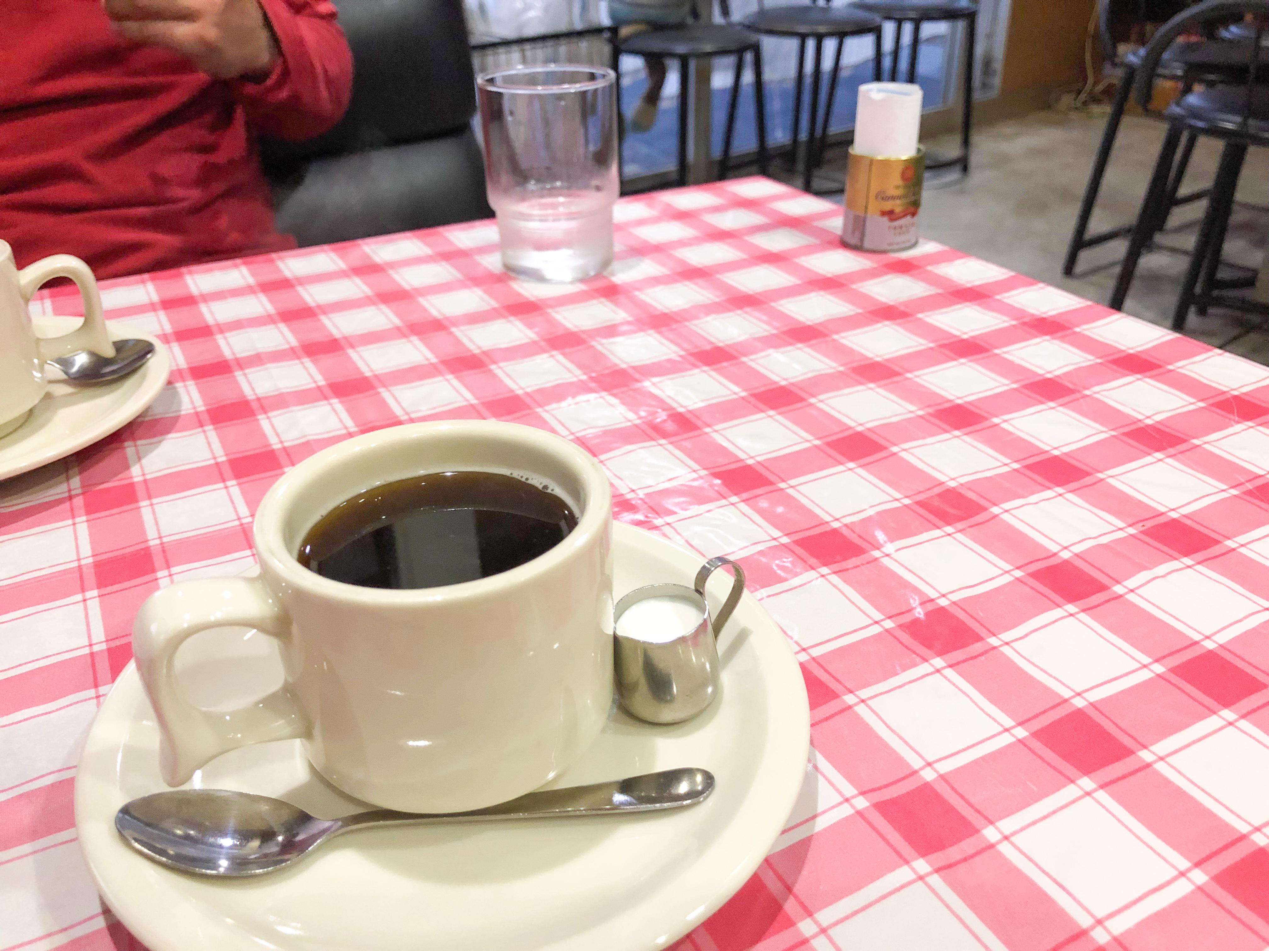高知市のカフェレストすみれのコーヒーの画像