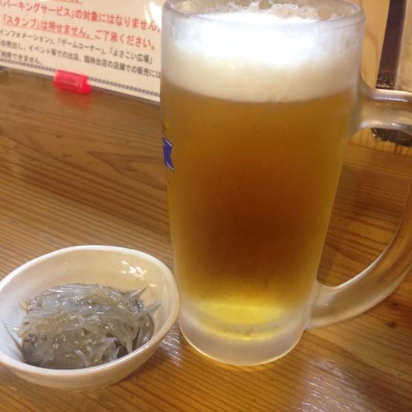 千松で生ビールからの